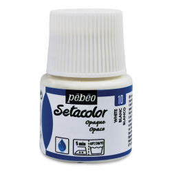 Pebeo Setacolor Fabric Paint - Titanium White, 45ml Bottle