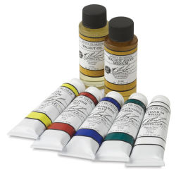 Solvent Free Oil Color set w/ <strong>FREE</strong> Mediums