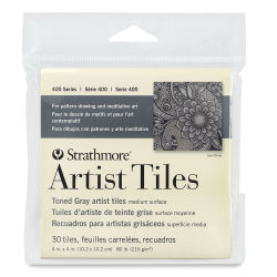 Strathmore Artists Tiles - 400 Series Toned Artist Tiles, 4'' x 4'', Grey, Pkg of 30
