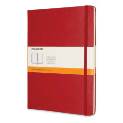"Moleskine Classic Hardcover Notebook - Scarlet Red, Ruled, 9-3/4"" x 7-1/2"""
