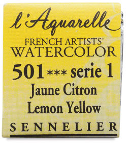 Sennelier French Artists' Watercolor - Lemon Yellow, Half Pan