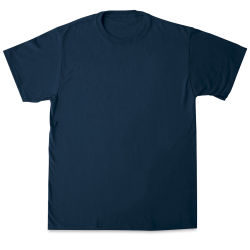 First Quality 50/50 T-Shirts, Adult Sizes - Navy Medium
