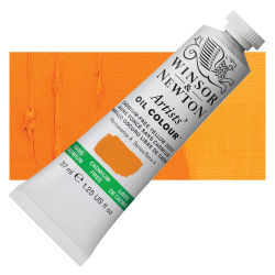 Winsor & Newton Artists' Oil Color - Cadmium Free Yellow Deep, 37 ml, Tube with Swatch