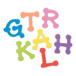 Darice Foamies Alphabet Stickers - Bright Dot Letters, 200 Pieces