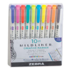 Zebra Mildliner Creative Markers - Refresh and Friend Colors, Set of 10