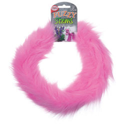 Pepperell Craft Fuzzy Stems  - Pink, 9 ft