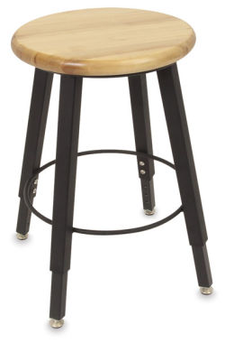 Solid Welded Stool, Adjustable