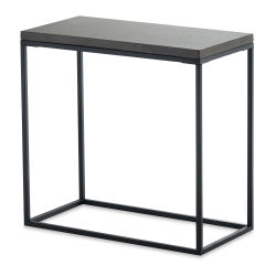 Design Ideas Pietra Rectangular Side Table - Cement Top
