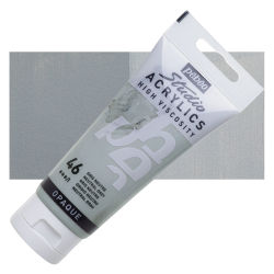 Pebeo High Viscosity Acrylics - Neutral Grey, 100 ml, Swatch with Tube