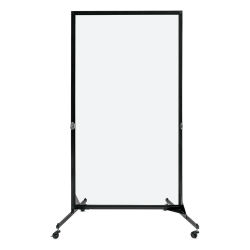 "Screenflex Clear Room Dividers - 1 Panel, 74"" H x 40"" W"