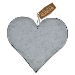 Hampton Art Galvanized Metal 3-D Shape - Heart