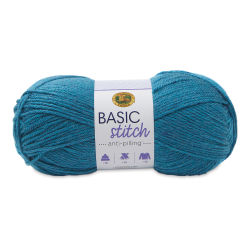 Lion Brand Basic Stitch Anti-Pilling Yarn - Turquoise Heather, 185 yds