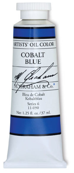 M. Graham Artists' Oil Color - Cobalt Blue, 37 ml tube