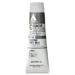 Holbein Acryla Gouache - Neutral Gray 4, 20 ml tube