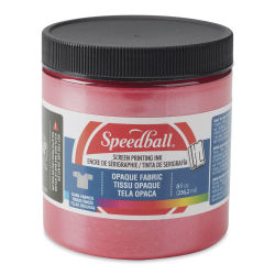 Speedball Opaque Iridescent Screen Printing Ink - Raspberry, 8 oz Jar