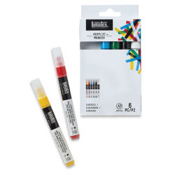 Liquitex Paint Marker - Primary Colors, 2mm Tip, Set of 6
