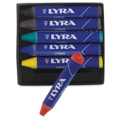 Lyra Lyrax Wax-Giant Crayons, Set of 6