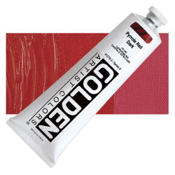 Golden Heavy Body Artist Acrylics - Pyrrole Red Dark, 5 oz tube