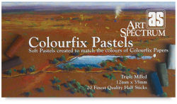 Art Spectrum Colourfix Soft Pastel Set - Assorted Colors, Half Sticks, Set of 20