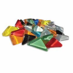 Crafter's Cut Crystal Angles Mosaic Tiles - Assorted Colors, 1 lb