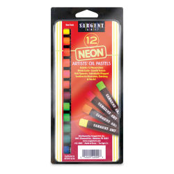 Sargent Art Gallery Oil Pastels - Fluorescent Colors, Set of 12