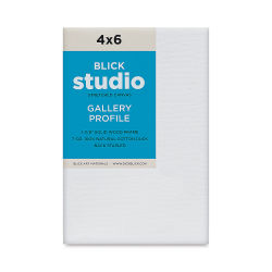 "Blick Studio Stretched Cotton Canvas - 4"" x 6"", 1-3/8"" Gallery Profile"