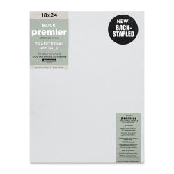 "Blick Premier Cotton Canvas - Back-Stapled, 7/8"" Traditional Profile, 18"" x 24"""