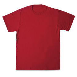 First Quality 50/50 T-Shirts, Adult Sizes - Red Large