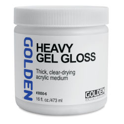 Golden Heavy Acrylic Gel Medium - Gloss, 16 oz jar