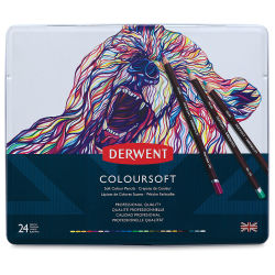 Derwent Coloursoft Pencil Set - Assorted Colors, Set of 24