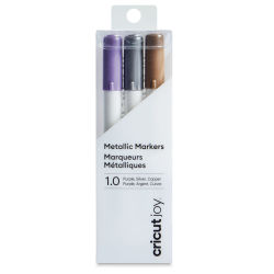 Cricut Joy Markers - A, Assorted Metallic, Set of 3, 1.0 mm (In packaging)