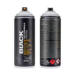 Montana Black Spray Paint - Outline Silver, 400 ml can