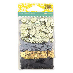 Hampton Art Sequins Packs - Neturals, 4 Pack