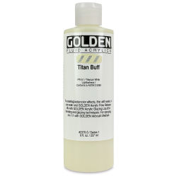 Golden Fluid Acrylics - Titanium Buff, 8 oz bottle