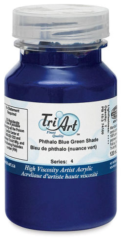 Tri-Art Finest Quality Artist Acrylics - Phthalo Blue Green Shade, 120 ml jar