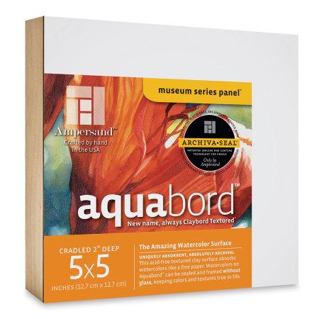 Ampersand Aquabord Panel - 5'' x 5'', 2'' Cradled