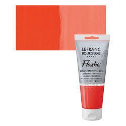 Lefranc & Bourgeois Flashe Vinyl Paint - Red Vermilion, 80 ml jar