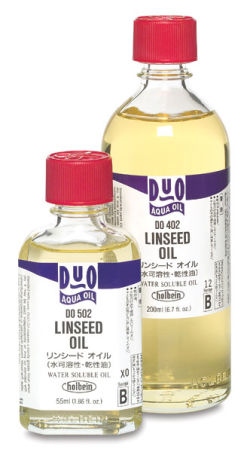 Holbein Duo Aqua Linseed Oil - 55 ml bottle