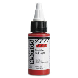 Golden High Flow Acrylics - Naphthol Red Light, 1 oz bottle