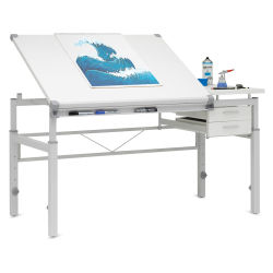 Studio Designs Graphix II Pro Line Table With Drawers (Shown in use, supplies not included)