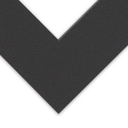 Blick Black Core Pre-Cut Mat - 8'' x 10'' w/ 4-1/2'' x 6-1/2'' opening (corner close-up)