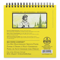 Bee Paper Co-Mo Sketch Pad - 6'' x 6'', 30 Sheets