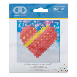 Diamond Dotz - Patchwork Heart, 3'' x 3''