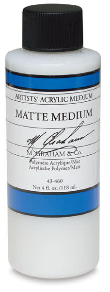 M. Graham Polymer Medium - Matte, Matte Medium, 4 oz bottle