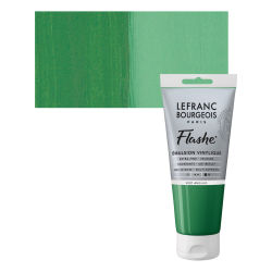 Lefranc & Bourgeois Flashe Vinyl Paint - Chrome Green, 80 ml jar