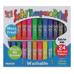 Kwik Stix Tempera Paint - Kwik Stix, Set of 24 (In packaging)