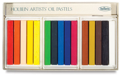 Holbein Artists� Oil Pastel Set - Assorted Colors, Set of 15