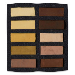 Art Spectrum Extra Soft Square Pastels - Ochre and Siennas, Set of 10