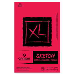 Canson XL Sketch Pad - 5-1/2'' x 8-1/2'', Euro Fold, 100 Sheets