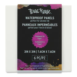 Brea Reese Alcohol Ink Panels - 3'' x 3'', Pkg of 6